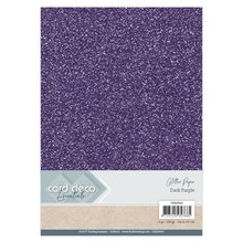 Card Deco A4 Glitter Paper Dark Purple (CDEGP001)