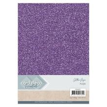 Card Deco A4 Glitter Paper Purple (CDEGP015)