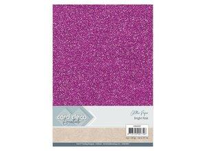Card Deco A4 Glitter Paper Bright Pink (CDEGP007)