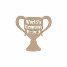 Spellbinders Worlds Greatest Friend Glimmer Hot Foil Plate (GLP-004)