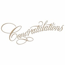 Spellbinders Copperplate Script Congratulations Glimmer Hot Foil Plate (GLP-014)
