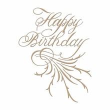 Spellbinders Copperplate Script Happy Birthday Glimmer Hot Foil Plate (GLP-018)