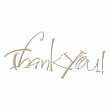 Spellbinders Thank You Glimmer Hot Foil Plate (GLP-024)