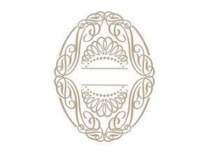 Spellbinders Elegant Oval Glimmer Hot Foil Plate (GLP-030)