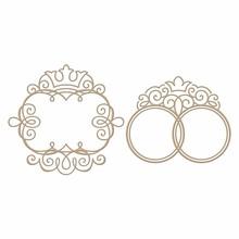 Spellbinders Monogram Medallions Glimmer Hot Foil Plate (GLP-036)