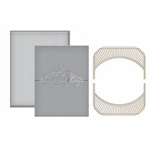 Spellbinders Place Card Mini Topper Glimmer Hot Foil Plate (GLP-040)