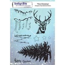 IndigoBlu Tree Dressing A5 Rubber Stamp (IND0473)