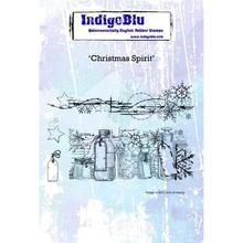 IndigoBlu Christmas Spirit A6 Rubber Stamp (IND0471)
