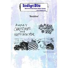 IndigoBlu Baubles A6 Rubber Stamp (IND0472)