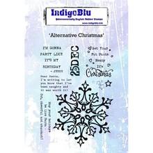 IndigoBlu Alternative Christmas A6 Rubber Stamp (IND0475)