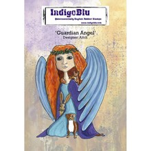 IndigoBlu Guardian Angel A6 Rubber Stamp (IND0467)