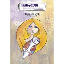 IndigoBlu Luna and Owl A6 Rubber Stamp (IND0468)