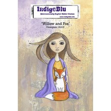 IndigoBlu Willow and Fox A6 Rubber Stamp (IND0470)