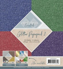 Card Deco Glitter 6x6 Inch Paperpack (CDEPP002)