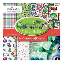 Polkadoodles Little Monsters 6x6 Inch Paper Pack (PD7039)