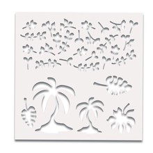 Polkadoodles 6x6 Inch Creative Stencil Tropical Foilage (PD7390)