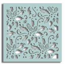 Polkadoodles 6x6 Inch Creative Stencil Holly Flourish (PD7434)
