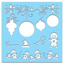 Polkadoodles 6x6 Inch Creative Stencil Bauble (PD7447)