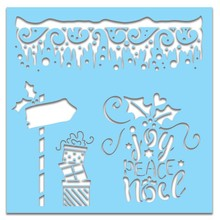 Polkadoodles 6x6 Inch Creative Stencil Icicles (PD7450)