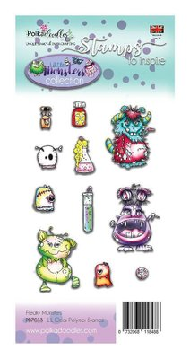 Polkadoodles Little Monsters Freaky Clear Stamps (PD7033)
