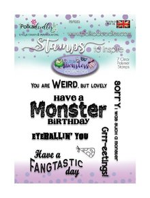 Polkadoodles Little Monsters Monster Messages Clear Stamps (PD7035)