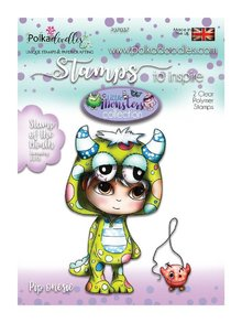 Polkadoodles Little Monsters Pip Onesie Clear Stamp (PD7037)