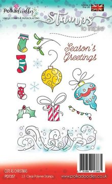Polkadoodles Cute as Christmas Clear Stamps (PD7357)