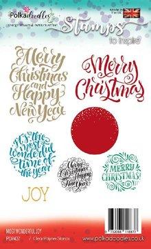 Polkadoodles Most Wonderful Joy Sentiments Clear Stamps (PD7437)