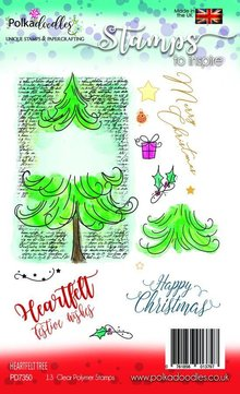 Polkadoodles Heartfelt Tree Clear Stamps (PD7350)