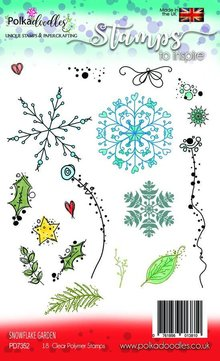 Polkadoodles Snowflake Garden Clear Stamps (PD7352)