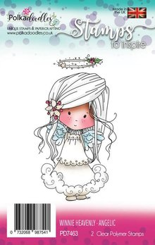 Polkadoodles Winnie Heavenly Angelic Clear Stamps (PD7463)