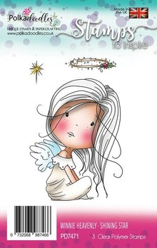 Polkadoodles Winnie Heavenly Shining Star Clear Stamps (PD7471)