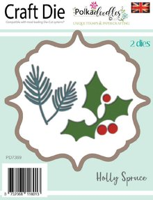 Polkadoodles Holly Spruce Dies (PD7369)