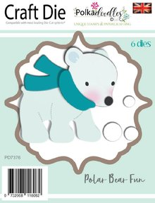 Polkadoodles Polar Bear Fun Dies (PD7376)