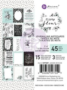Prima Marketing Inc Flirty Fleur 3x4 Inch Journaling Cards (597559)
