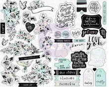 Prima Marketing Inc Flirty Fleur 4x6,5 Inch Sticker Sheets (597634)