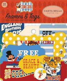 Carta Bella Circus Ephemera Frames & Tags (CBCI93025)