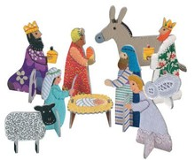 Roger La Borde Nativity Scene Pop & Slot (POP 052)
