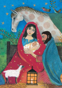 Roger La Borde Nativity Scene Greeting Card (GCX 901)