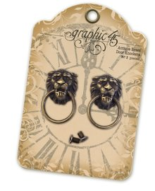 Graphic 45 Lion Head Door Knockers (4501028)