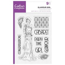 Crafter's Companion Roaring Twenties Glamour Girl Clear Stamps (CC-ST-CA-GG)