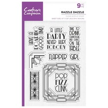 Crafter's Companion Roaring Twenties Razzle Dazzle Clear Stamps (CC-ST-CA-RD)