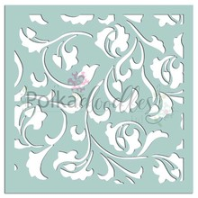 Polkadoodles Damask Delights 6x6 Inch Creative Stencil (PD7529)