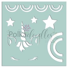 Polkadoodles Unicorns & Rainbows 6x6 Inch Creative Stencil (PD7531)