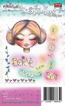 Polkadoodles Believe in Angels Clear Stamps (PD7488)