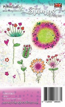 Polkadoodles Flower Power 2 Clear Stamps (PD7491)