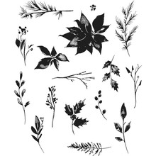 Stampers Anonimous Cling Stamps Winter Watercolor (CMS354)