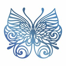 Couture Creations Hot Foil Stamp Baroque Butterfly (CO725676)