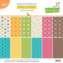 Lawn Fawn Knit Picky Fall 12x12 Inch Collection Pack (LF1733)