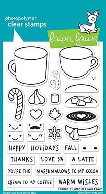 Lawn Fawn Thanks A Latte Clear Stamps (LF1761)